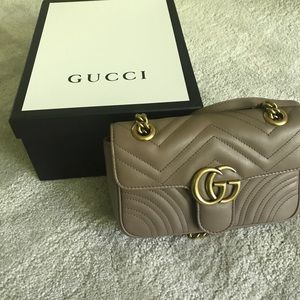 Authentic gucci bag with box and dust bag
